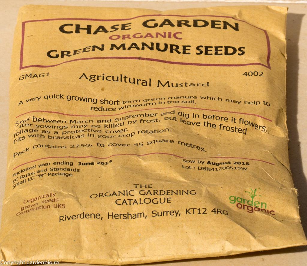 Seminte de mustar in ambalaj de hartie, cu perioada scurta de garantie - 1 an