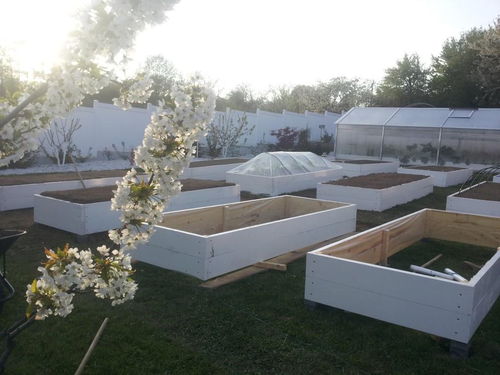 Realizarea grădinii cu straturi înălțate