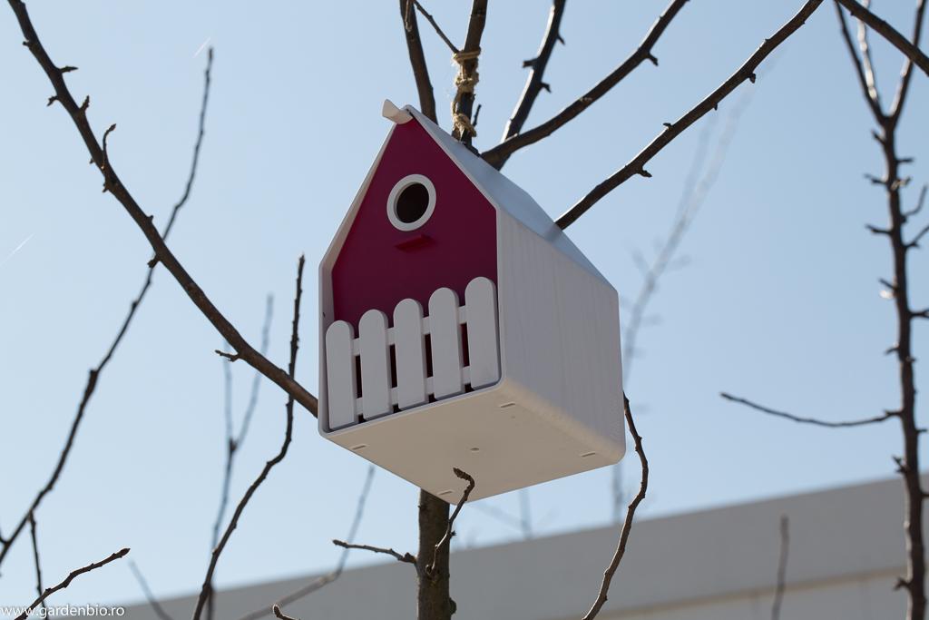 Căsuță de păsări din PVC, rezistentă la intemperii
