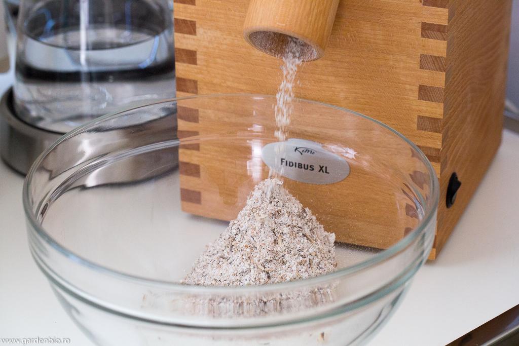 Făina obţinută din boabele de grâu ancestral