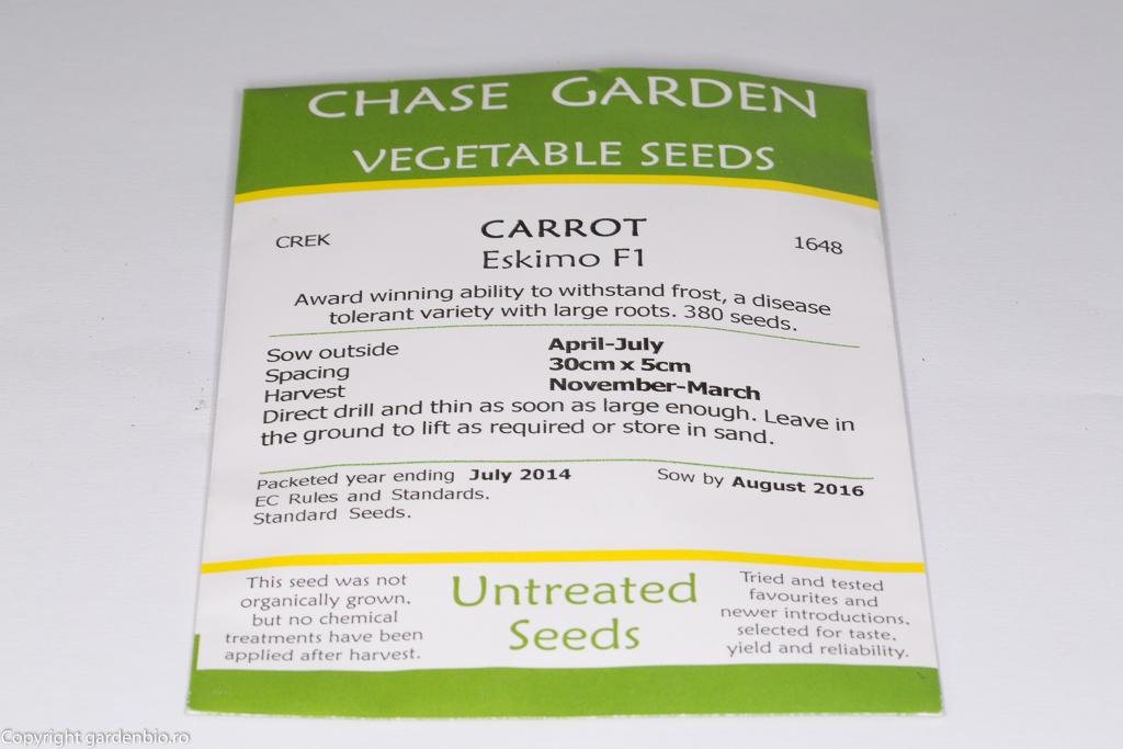 Plic de seminte de morcovi hibrid Eskimo F1