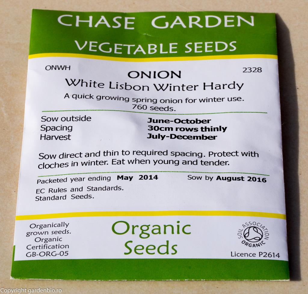 Plic cu seminte de ceapa White Lisbon Winter Hardy