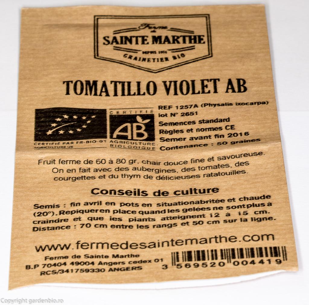 Plic cu seminte organice de tomatillo