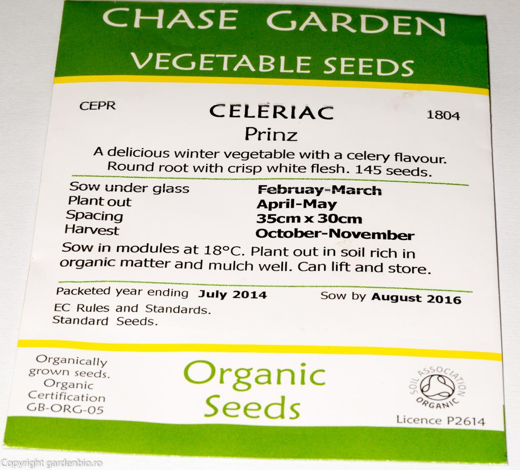 Pe plicul cu seminte se mentioneaza ca acestea sunt organice, perioada de semanare si recoltare, precum si termenul de valabilitate.