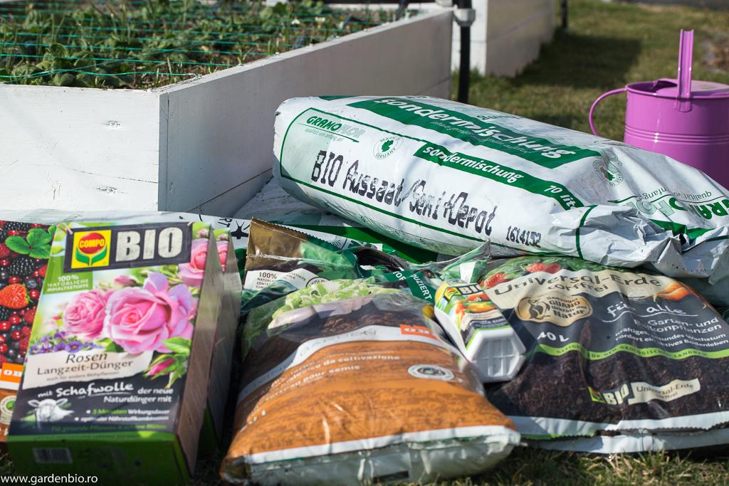 Substraturi pentru răsaduri şi îngrăşăminte 100% ecologice folosite în grădină